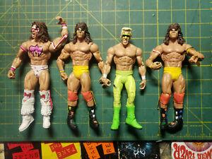 Lot 4 Wrestling The Ultimate Warrior Action Figures Mattel WWE 2012 2011