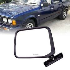 Black LH Left Side View Door Mirror ABS Fit For Nissan SD23 1985 1986 1987