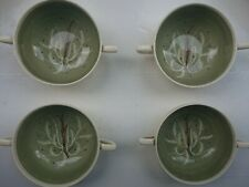"""One Susie Cooper Chinese Fern 4.5"""" Green soup bowl hand painted"""