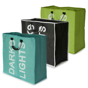Large Double Laundry Washing Bag Foldable Popup Basket Bin Hamper Storage