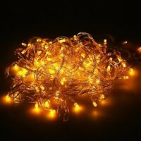 LED Icicle String Fairy Lights Indoor/Outdoor Garden Curtain Xmas Party Wedding