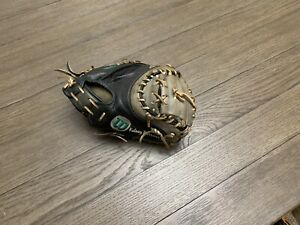"Custom Wilson A2K 1790 34"" Catchers Mitt Baseball Glove Black Gray"