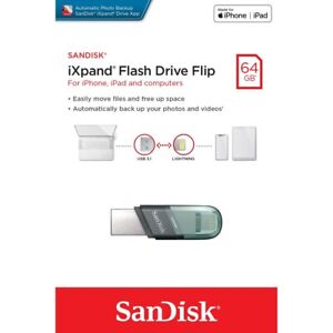 SanDisk iXpand Flash Drive Flip32GB/64GB/128GB/256GB USB3.1 For Apple Devices-UK