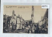 A8791cgt Military WW1 France Albert Somme Ruins vintage postcard