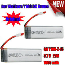 2x 3.7v 1600mAh 20c Li-Po Battery Y100-Z-15 for Walkera QR Y100 RC Copter Drone