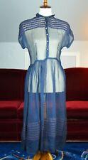 Vintage 1940's/1950's Sally Spiegel Navy Blue Day Dress