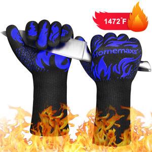 Grillhandschuhe Hitzebeständige bis zu 800° C Ofenhandschuh Kochhandschuhe NEU