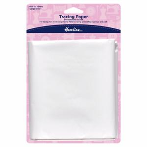 Hemline H750: Tracing Paper: Plain: 76 x 102cm