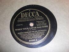 EDDIE CONDON DECCA 78 RPM RECORD 23393 JACK TEAGARDEN LEE WILEY