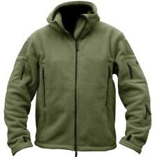 CLEARANCE! TACTICAL FLEECE JACKET MENS S-3XL HEAVYWEIGHT FULL ZIP HOODIE ARMY