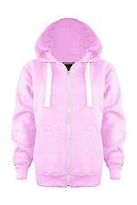 New Ladies Plain Hooded Hoodie ZIP Fleece Jumper Sweatshirt Coat Jacket TOP 8-28