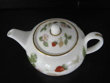 RARE WEDGWOOD  WILD STRAWBERRY BONE CHINA MINIATURE TINY TEAPOT
