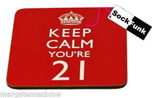 keep calm coaster 'YOU'RE 21' gift novelty present