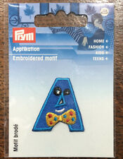 Prym Embroidered Motif Letters IRON ON or SEW ON (1 EACH IN STOCK)