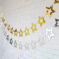 Paper Star Garland Buntings Wedding Party Birthday Banner Hanging Decor n n