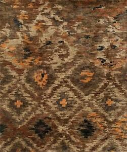 7'x9' Loloi Rug Xavier Jute Rustic Brown Hand Knotted Transitional XV-08