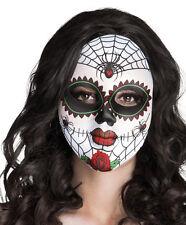 Día de los muertos español mexicano de Halloween vestido elegante mujer Máscara De Terciopelo