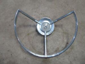 1959 Ford Galaxie Fairlane interior steering wheel center horn trim ring chrome