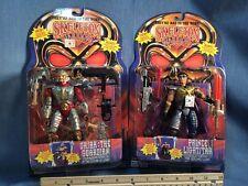 Lot Of 2 1994 Playmates Skeleton Warriors Ursak Guardian Prince Lightstar Figure