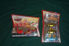 Pixar Cars Diecast Dinoco Dream Gold Mia&Tia Bling Bling McQueen & Pit Race NEW