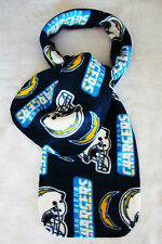 "New SAN DIEGO CHARGERS NFL Football Team Logo Fleece Scarf 60"" Long 9"" Wide"