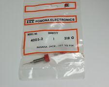 One Pomona Red Banana Jack With Wire Wrap Terminal 4005-2