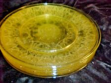 ANCHOR HOCKING CAMEO BALLERINA, YELLOW DINNER PLATES ( 2), 4 SETS OF ( 2) AVAIL