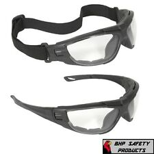 Radians Cuatro 4-in-1 Clear/Anti Fog Safety Glasses Hybrid Goggles Foam Padded