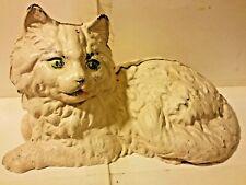 Iron Art Persian Cat Door Stop Figure Cast Iron