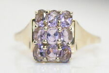10K Yellow Gold 1.8 Ct Oval Amethyst Cocktail Ring