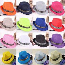 CHIC Mens Ladies Fedora Crushable Straw Panama Style Beach Sun Hat Summer Hat