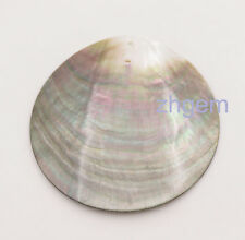 80mm Flat Round Shell Top Hole For Pendant Jewelry Natural Mother of Pearl