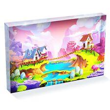 "Colorful Magic Realm World Photo Block 6 x 4"" - Desk Art Office Gift #16884"