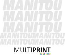 More details for manitou forklift vinyl decals sticker kit forklift truck telehandler man2