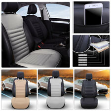 Car SUV PU Leather&Buckwheat Hull Seat Cover Breathable Comfortable Cushion Mat