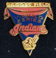Vintage 1997 MLB WORLD SERIES LAPEL PIN Jacobs Field CLEVELAND INDIANS Mint!