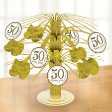 Amscan International 9902220 Sparkling Golden Anniversary Foil Centrepiece