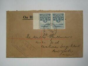 1936 BASUTOLAND REGISTERED COVER to USA
