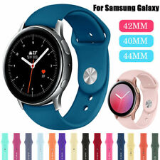 For Samsung Galaxy Watch 46mm Active 2 40/44mm Sports Silicone Wrist Band Strap