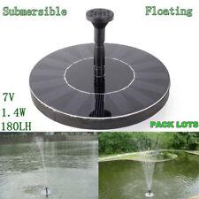 7V 1.2W Bomba Agua Energía Panel Solar Sin Escobillas Para Fuente Jardín Piscina