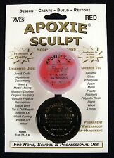 Aves Apoxie Sculpt Red 2-Part Self-Hardening Modeling Compound 1/4 lb
