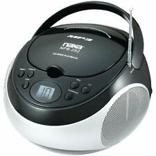 NAXA Electronics NPB-252 Portable MP3/CD Player with AM/FM Stereo Radio (Black)