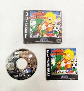 MARKO'S MAGIC FOOTBALL - SEGA Mega CD - Complete - Very Good Condition