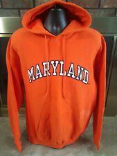Vintage Maryland Terripans NCAA Basketball Hooded Hoodie Sweatshirt Mens Large