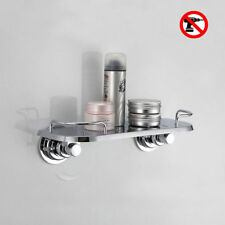 Vacuum Suction Cup for Soap Dish Shower Gel Shampoo Storage Wall Holder Chrome