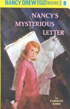Nancy's Mysterious Letter (Nancy Drew Mystery Stories, No 8)-ExLibrary