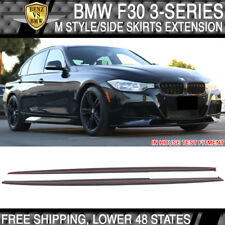 Fits 12-18 BMW F30 PP M Style Side Skirts Extension Splitter 320i 328i 335i