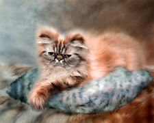 Canvas Print animal Cat on the sofa Oil Painting Picture on canvas 8