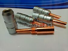 4x Red Copper Plated Speaker Cable Banana Plug Connector HIFI amp PP008