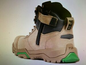 FXD work boots WB2 stone safety shoe composite toe zip sider & laces   AU design